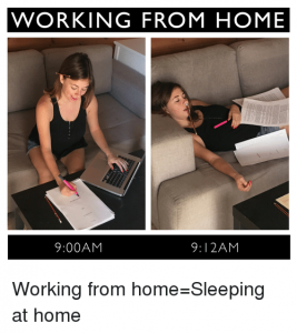 Working From Home Sleeping At