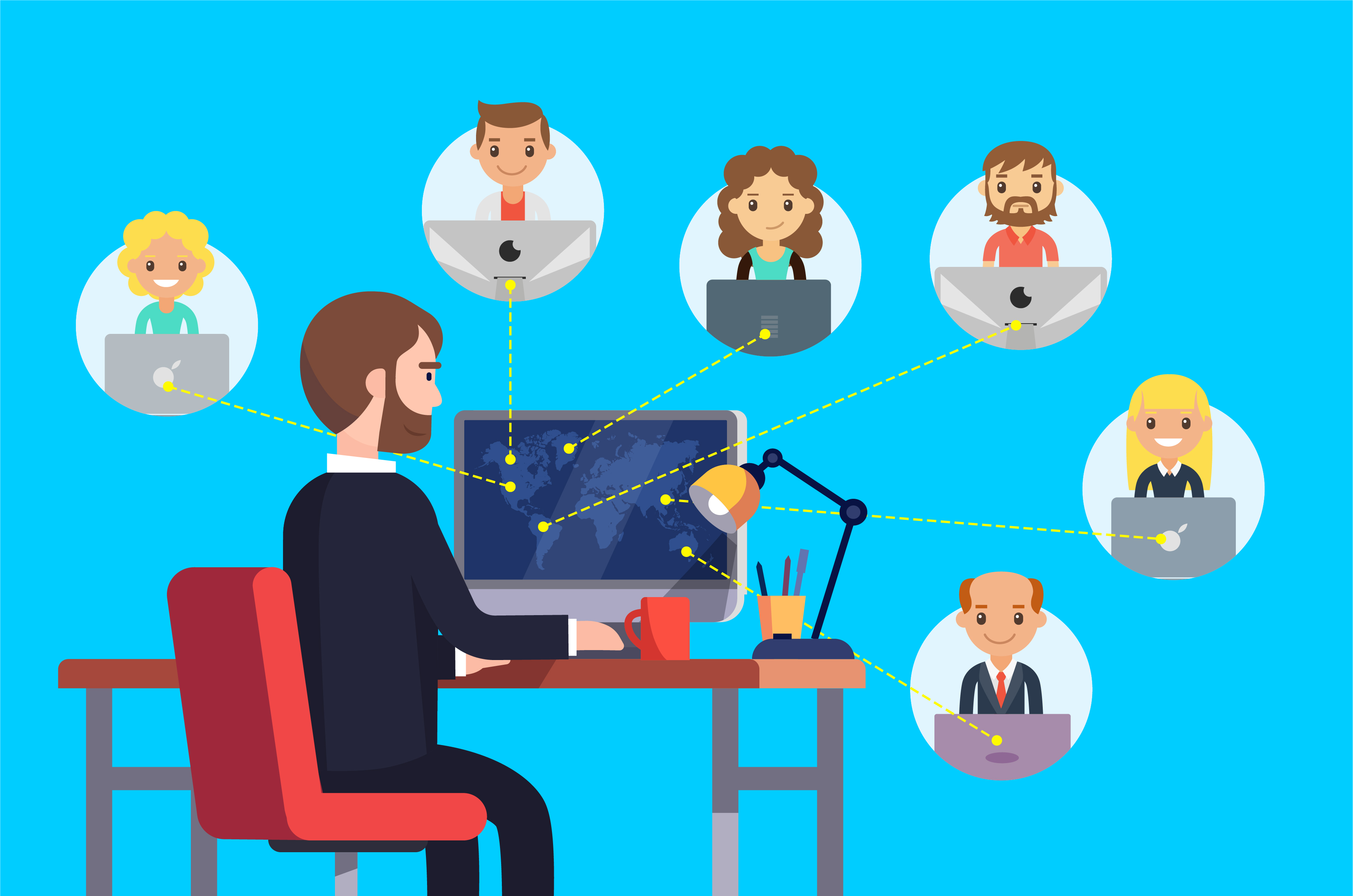remote team project team