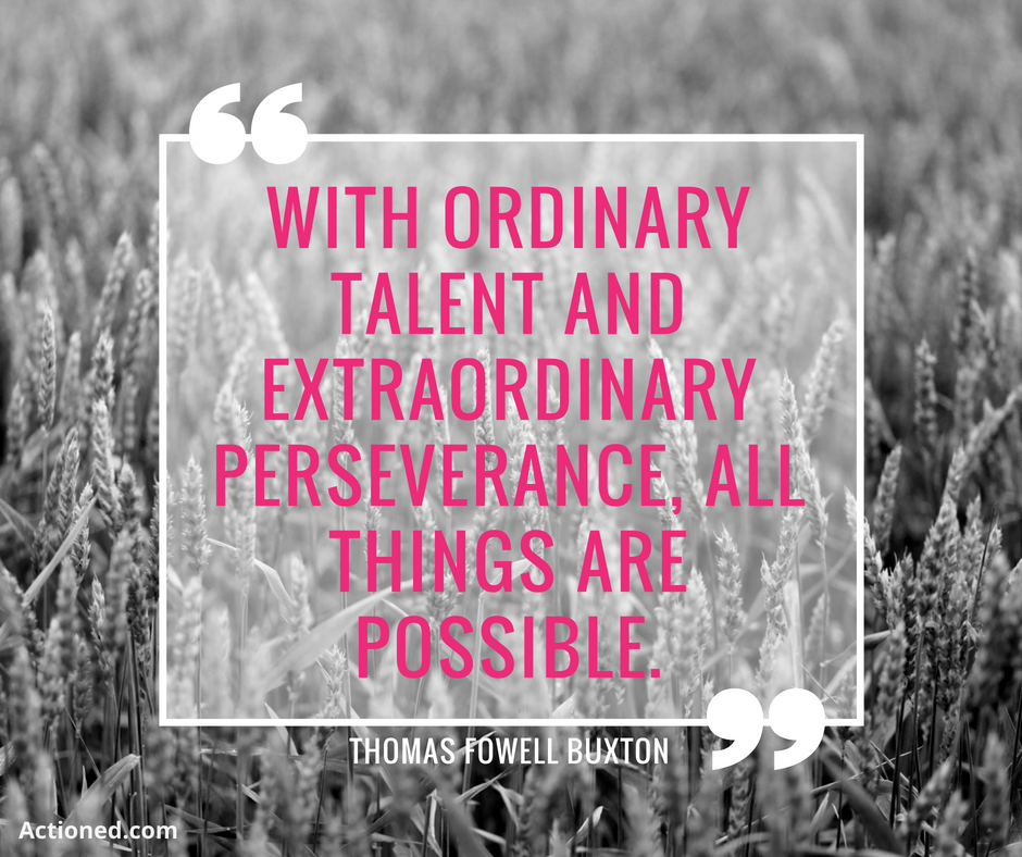 productivity quote ordinary talent perseverance