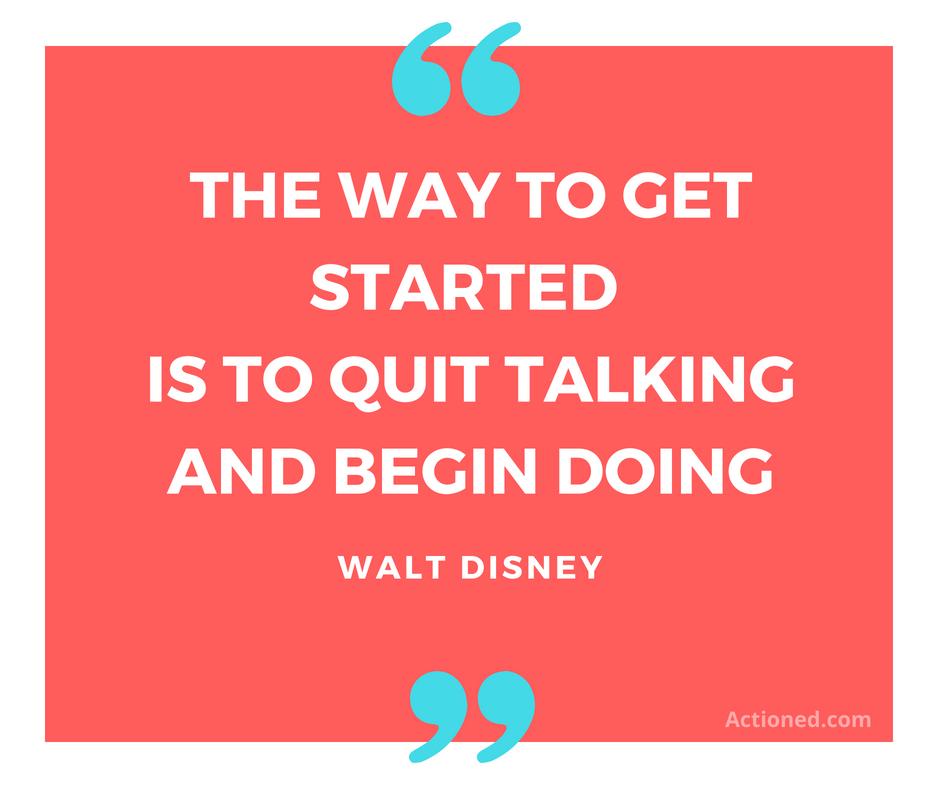 Productivity quote Walt Disney