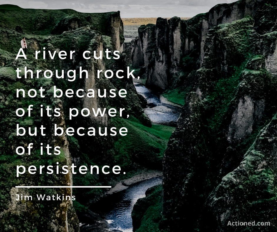 productivity quote river cuts through