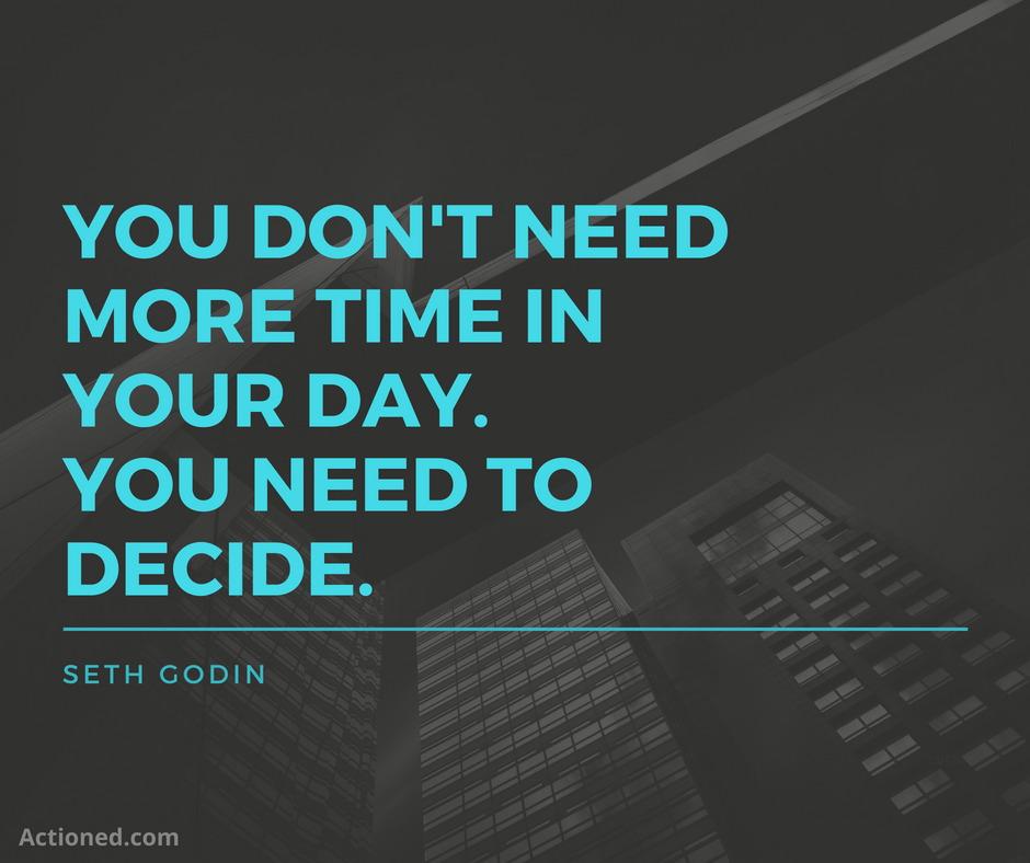 productivity quote Seth Godin