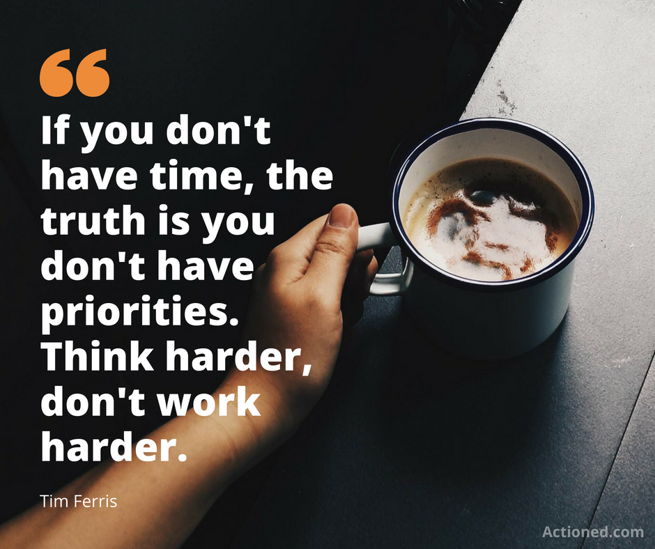 Productivity quote Tim Ferris