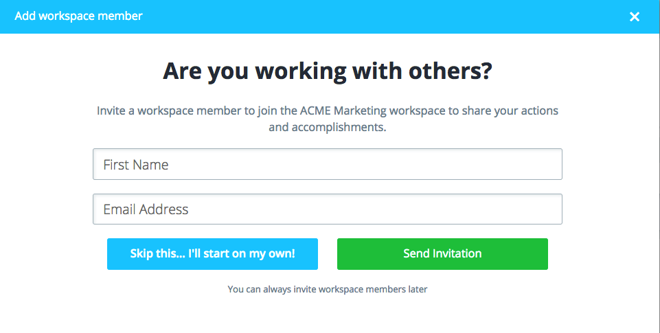 invite others to join workspace